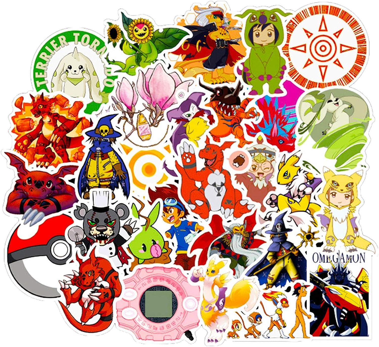 50x Sticker Notebook Sticker Car Sticker Digimon Adventure stickers Ti