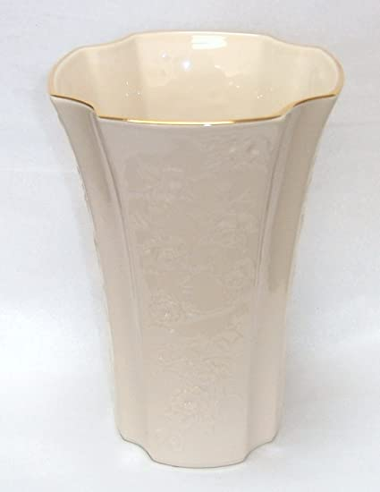 Amazon Lenox Legacy Edition Carrington Ivory Vase With Gold