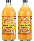 Bragg Usda Organic Raw Apple Cider Vinegar With Mother, 2 Pack 32 OZ