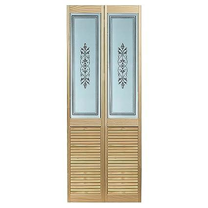 Pinecroft 885720LB Tapestry Louvered Bottom Bifold Interior Wood Door,  23.5u0026quot; X 78.625u0026quot;,