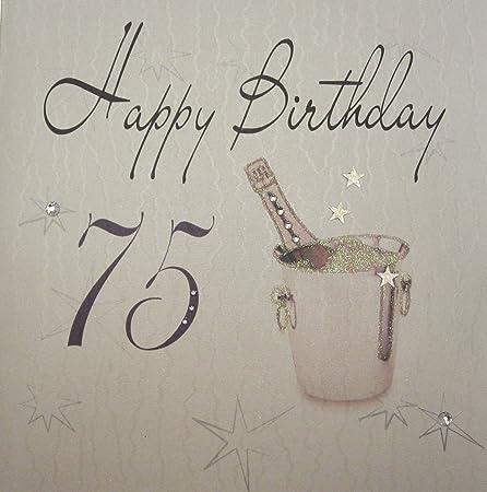 White Cotton Cards 1 Piece Happy Birthday Extra Large 75th Birthday