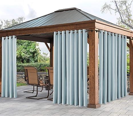 cololeaf - Panel de Cortina para Exteriores para Patio, Impermeable, con Ojales, Aislante térmico, Cortina Opaca para Patio, Porche, cenador, pergola, Cabana (1 Panel): Amazon.es: Jardín