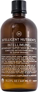 Intelligent Nutrients Intellimune Antioxidant Super Seed Oil Complex - Certified Organic & Cold Pressed Seed Oil Blend with Pumpkin & Black Cumin (15.2 oz)
