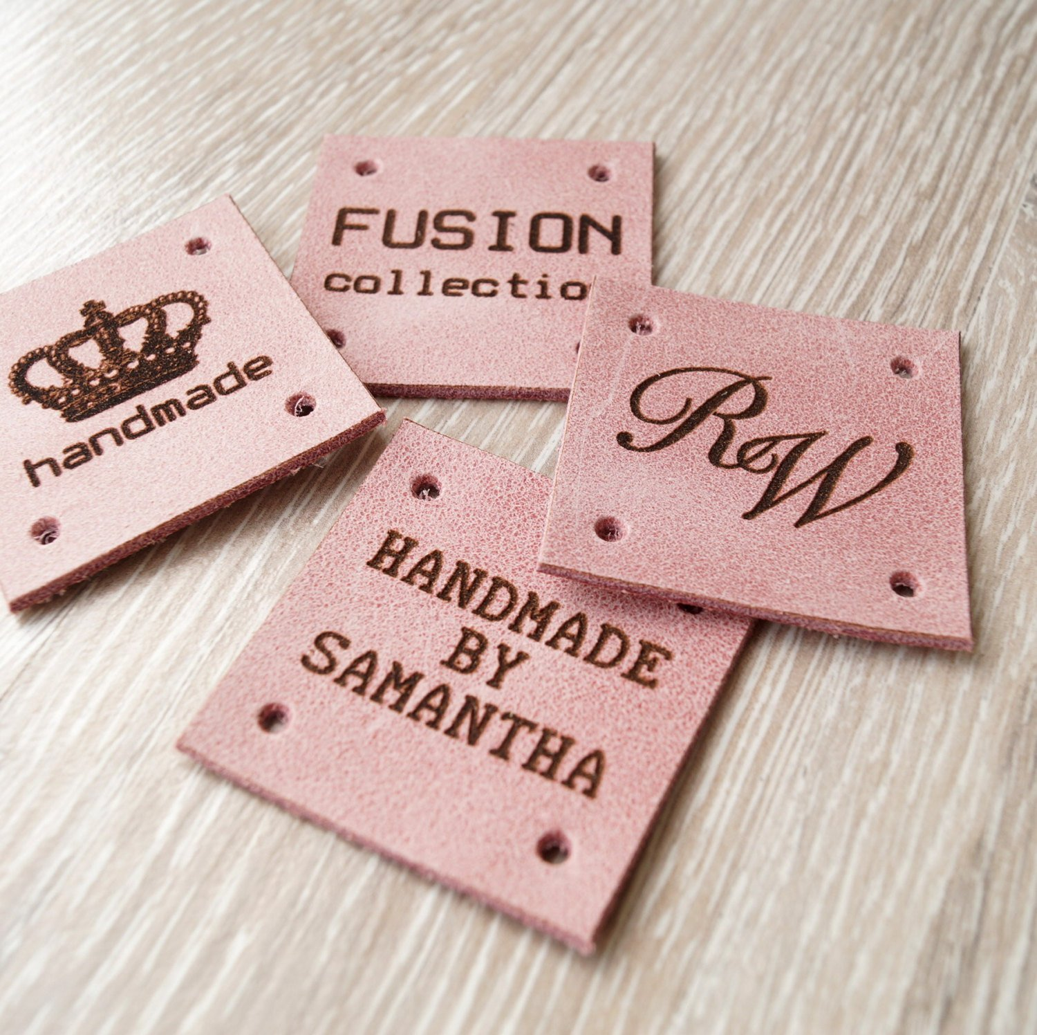 Leather sewing tags custom labels personalized leather for Custom tags for crafts