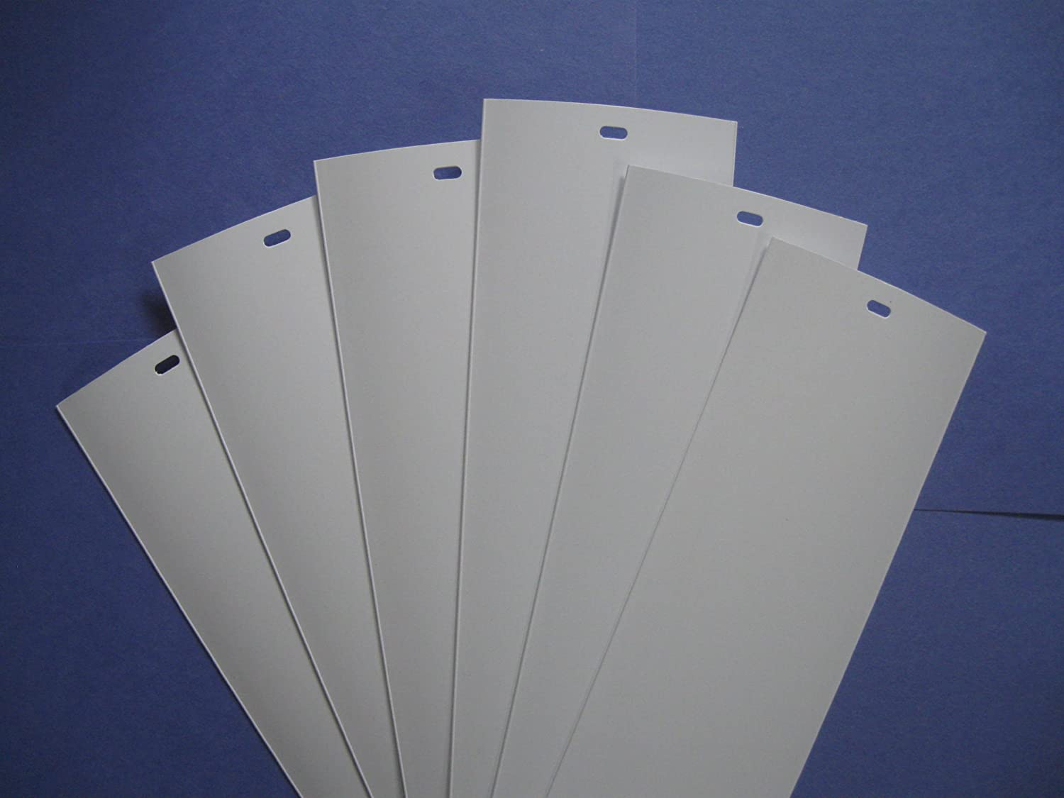 PVC Vertical Blind Replacement Slat Smooth (White) 6 Pk 82 1/2 x 3 1/2 by Royal Window Coverings