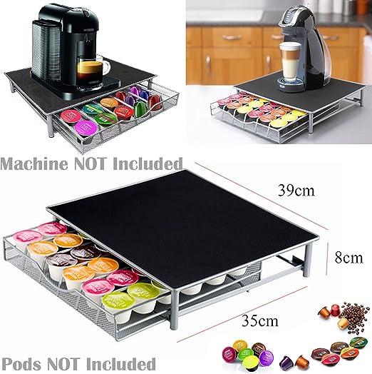 Soporte para máquina de café Nespresso para Dolce Gusto y cafetera, 36 cápsulas, 39 cm de largo x 35 cm de ancho x 8 cm de alto.: Amazon.es: Hogar
