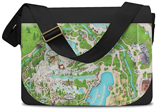 Amazon Com Blizzard Beach Map Messenger Bag One Size Messenger