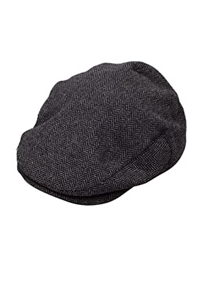 5af0b13ebcd Brixton Men s Flat Cap Hooligan grey  Amazon.co.uk  Clothing