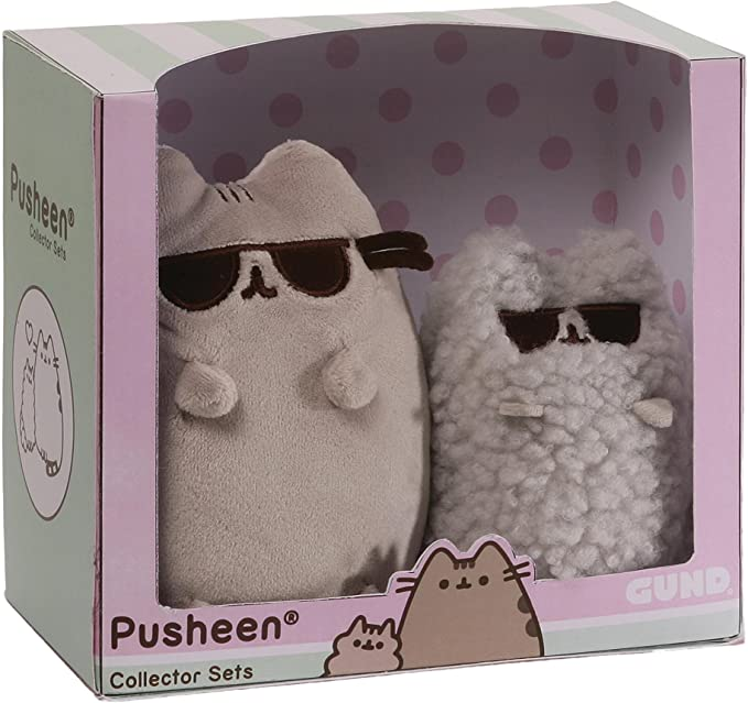 Gund 4059129 Pusheen and Stormy Cat Sunglasses Collectable Set Soft Toy Plush