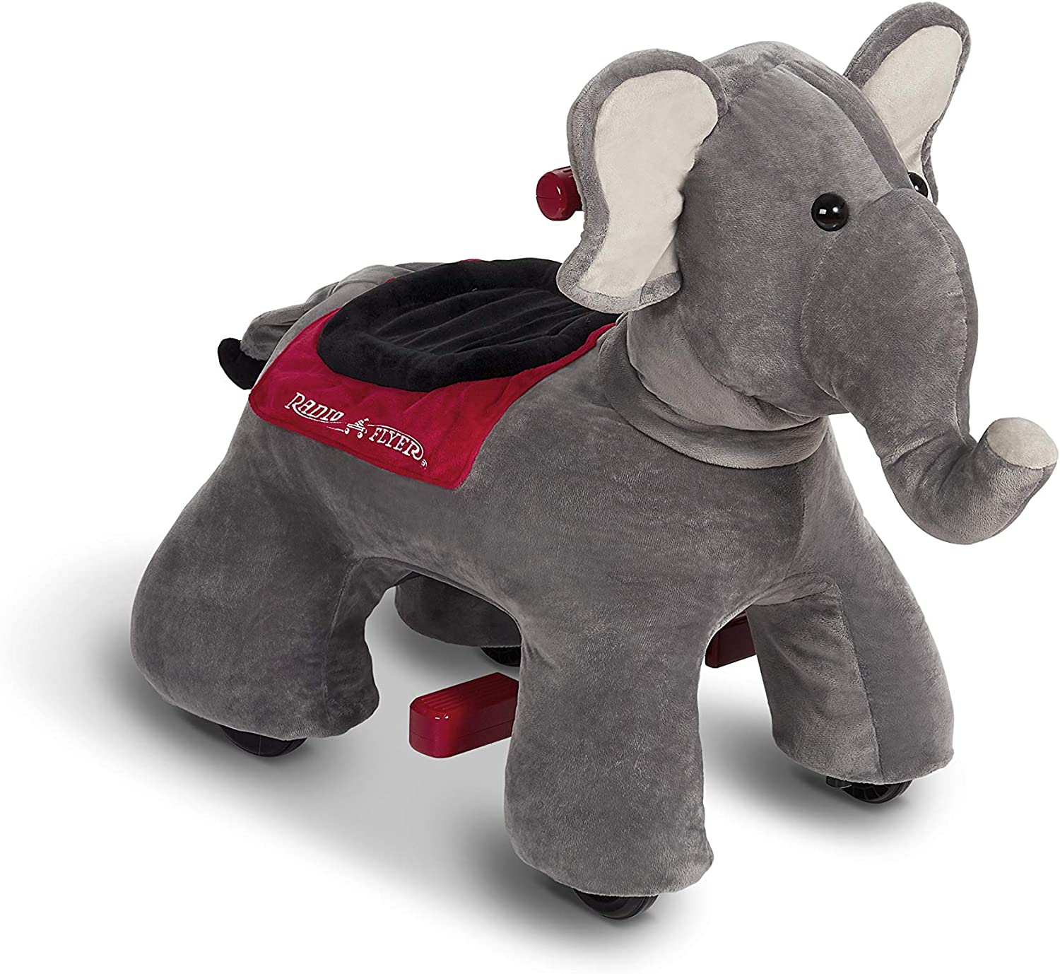 Radio Flyer Peanut Electric Ride On Elephant with Sounds, Grey