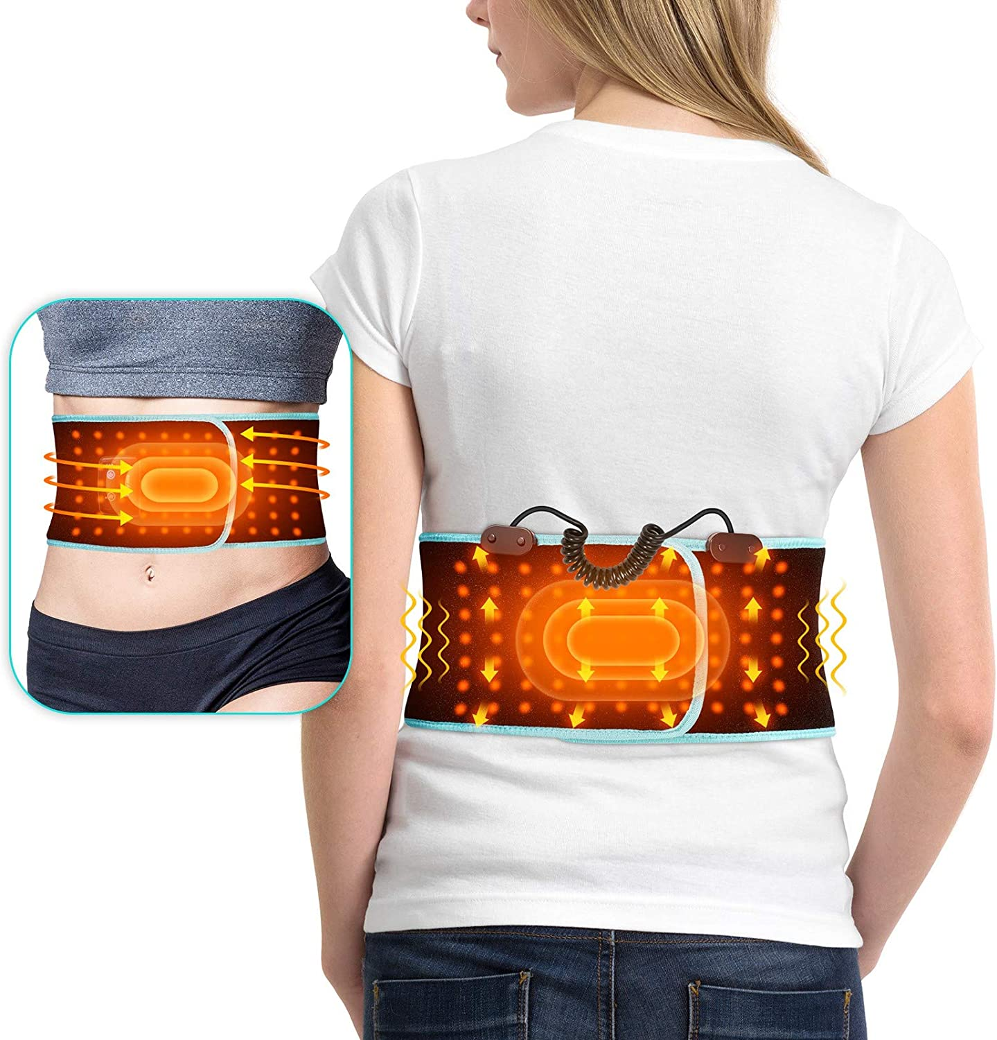 Massage Pad Heating Vibrating Back Massager with Auto Shut Off in Home Office Lumbar Pain Relief for Women/Men