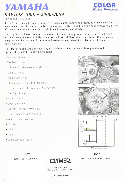 Clymer M290 Repair Manual Automotive Raptor 700 Wiring Diagram