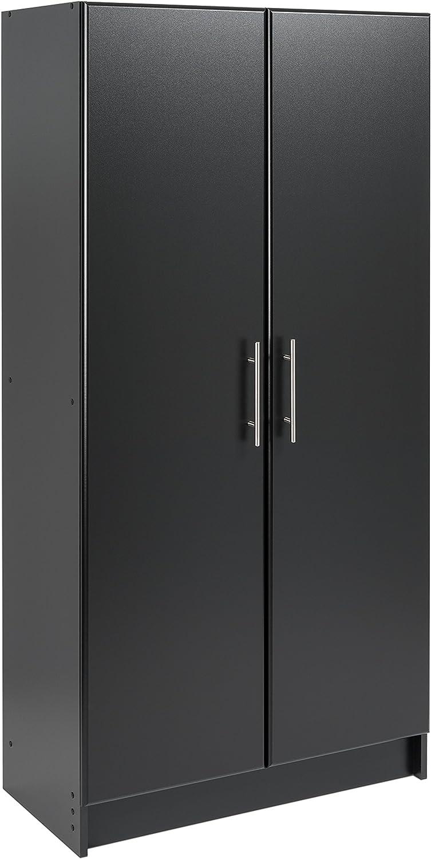 "Prepac Elite Storage Cabinet, 32"" W x 65"" H x 16"" D, Black"