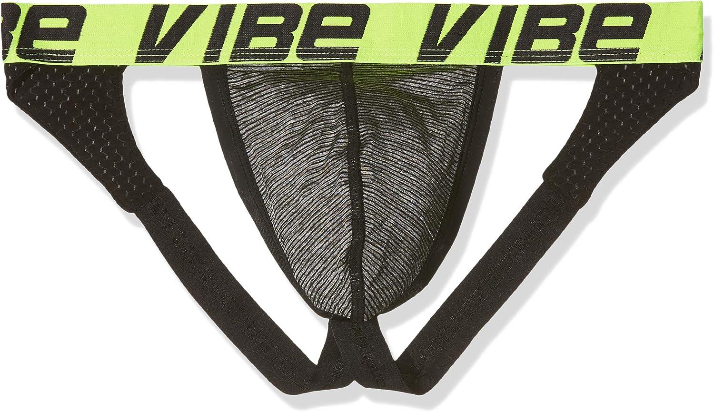 TALLA Large (Tamaño Fabricante: Large). Andrew Christian Vibe Sports & Workout Jock Tanga para Hombre