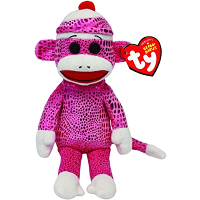 Ty Beanie Babies Sock Monkey Pink Sparkle Plush: Toys & Games