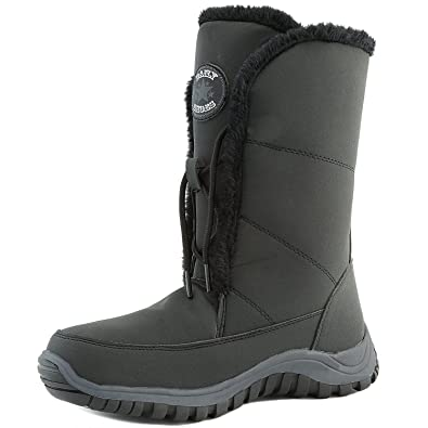 Women's Warm Polar Mid Calf Ankle Snow Boots