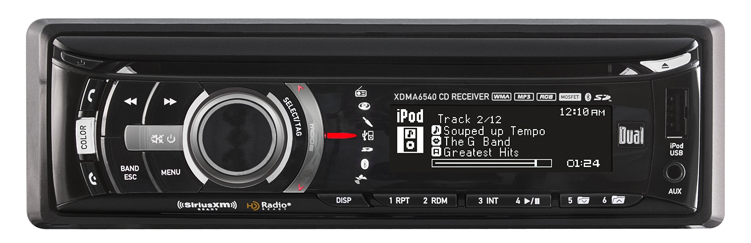 Dual Electronics XDMA6540 Multimedia Full Graphic LCD Single DIN Car Stereo with Built- In Bluetooth, CD, USB & MP3 Player