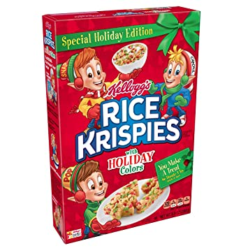 kelloggs rice krispies breakfast cereal original holiday colors 99 oz