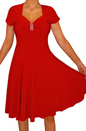 c99a098b649 Funfash Plus Size Women Apple Red Slimming A-line Cocktail Dress New Made in  USA