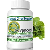Chewable Oral Probiotics~Dentist Formulated 60 Lozenge Bottle~Attack Bad Breath, Cavities and Gum Disease~Bad Breath Treatment~Contains BLIS M18 and BLIS K12~Mint Flavor