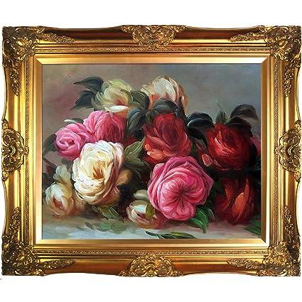 Amazon.com: overstockArt Renoir Discarded Roses Artwork with ...