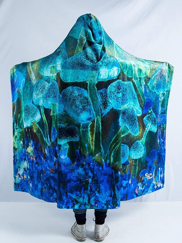 Mystic Mushrooms Hooded Blanket