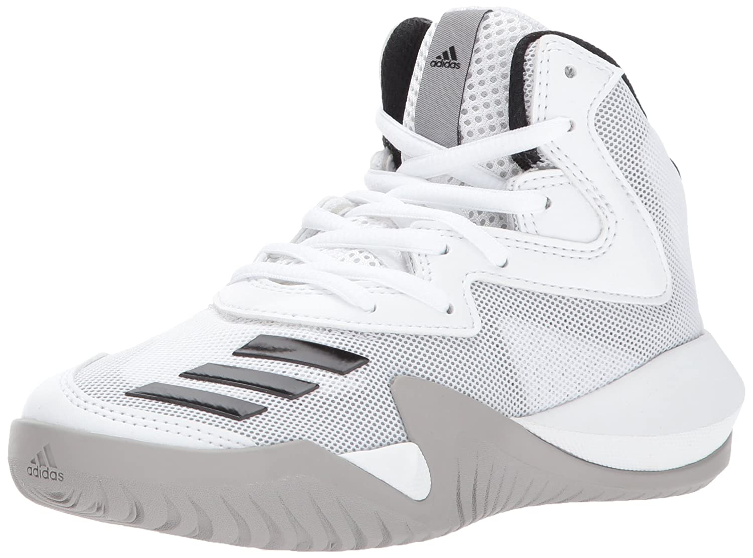 best service 59594 d9fa0 Amazon.com  adidas Kids Crazy Team K Basketball Shoes, WhiteBlackMedium  Solid Grey, (3.5 M US)  Basketball