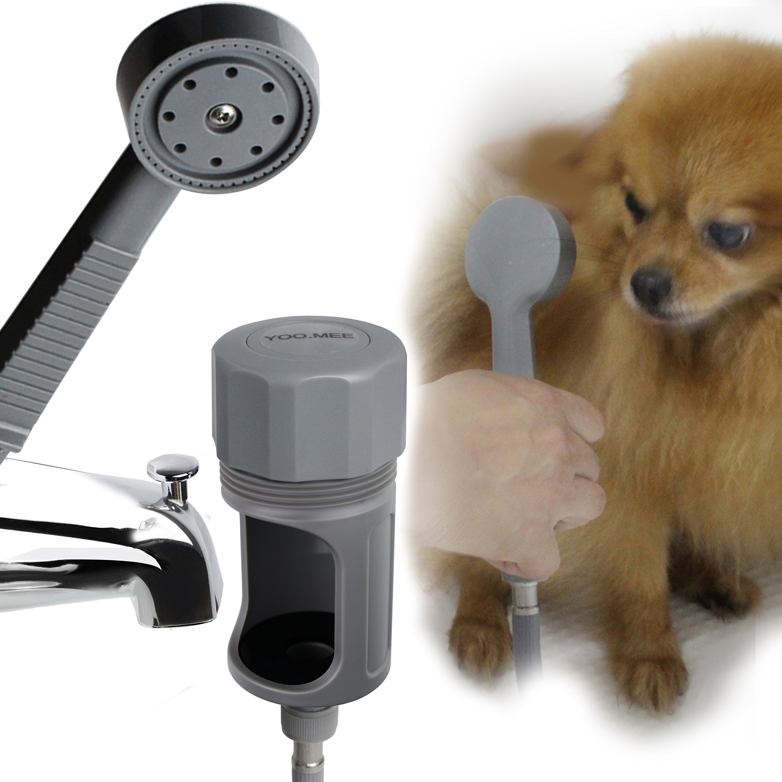 YOO.MEE Tub Spout Shower Sprayer, Ideal for Bathing Child, Washing Pets and Cleaning Tub, Only for Use On Tub Spout with Diverters