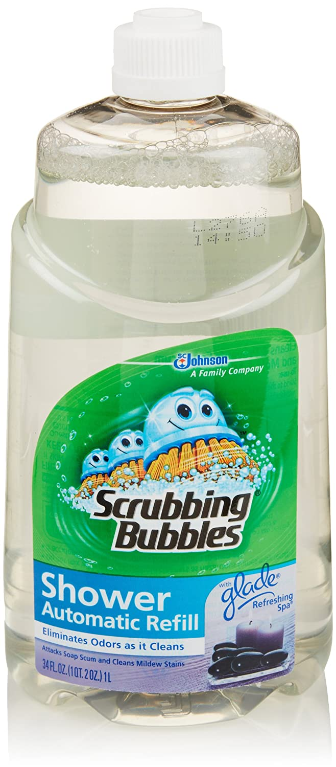 Amazon.com: Scrubbing Bubbles Automatic Shower Cleaner Refill, Refreshing  Spa, 34 Fl Oz: Health U0026 Personal Care