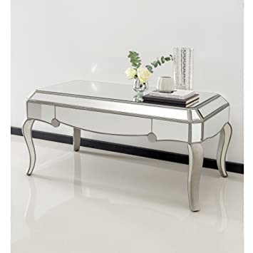Homesdirect365 Venetian Mirrored Coffee Table Amazon Co Uk