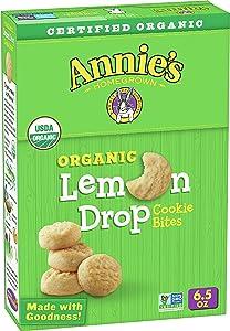 Annie's Homegrown Cookie Bites, Lemon Drop, 6.5 Ounce