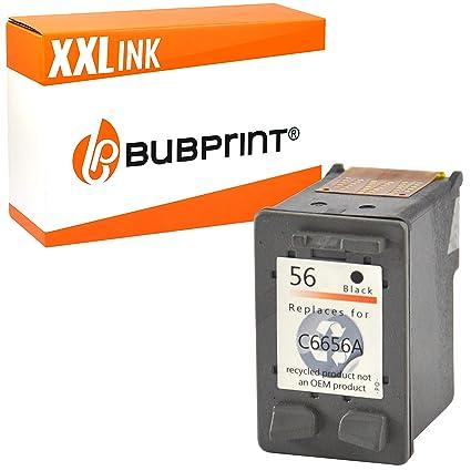 Bubprint Impresora Tinta Compatible con HP 56 Black Negro ...