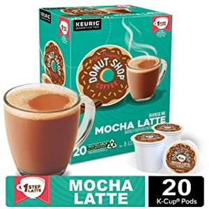 The Original Donut Shop Mocha Latte, Single-Serve Coffee K Cup Pods, Flavored Coffee, 20Count
