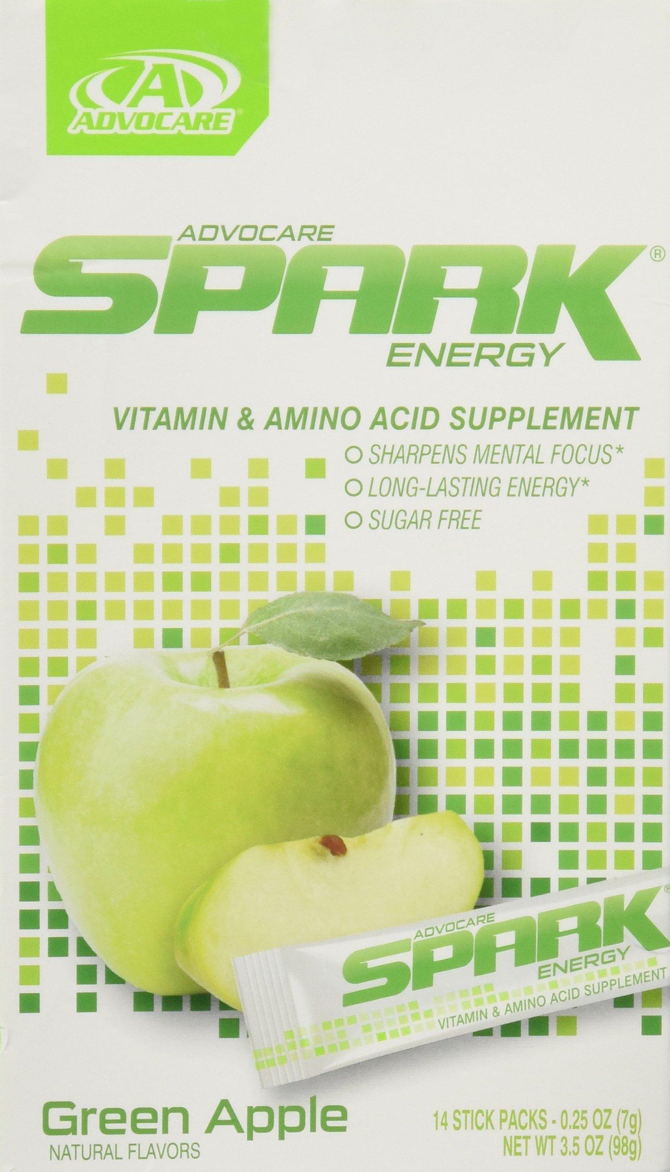 AdvoCare Spark Energy: Green Apple On the Go - 14 (0.25 oz) sticks