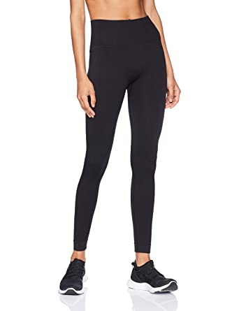 "1032ce5f2a Starter Women's 25"" Seamless Light-Compression Cropped Workout Legging,  Amazon Exclusive, Black"