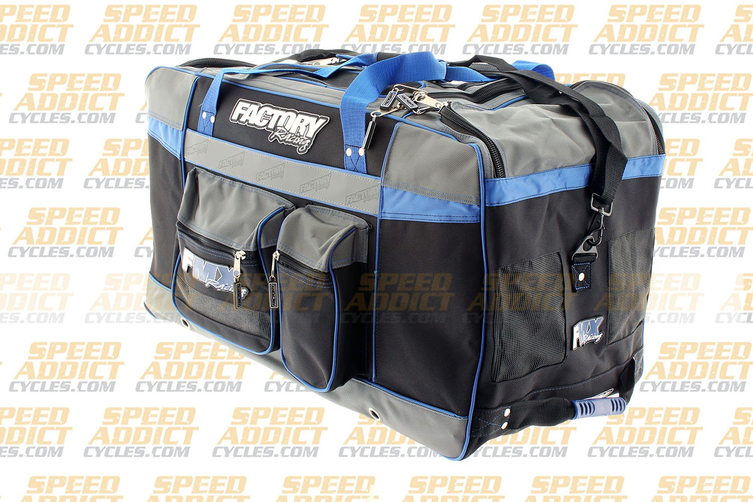 Factory FMX Motorcross Gear Bag XLarge Blue by Factory Racing (Image #4)