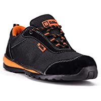 Black Hammer Mens Safety Trainers Ultra Lightweight Sneakers Steel Toe Cap and Kevlar Midsole Work Shoes Ankle Hiker 4444