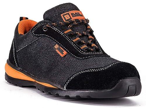 online retailer ef810 3b325 Black Hammer Steel Toe Shoes Men Work Safety Sneakers Ultra Lightweight  Industrial & Construction Shoe 4444