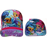 Shimmer and Shine Sparkly 12 Inch Backpack & Matching Insulated Lunch Tote
