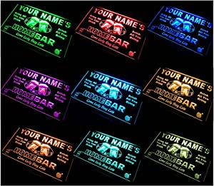 ADVPRO Multi Color p-tm-c Name Personalized Custom Home Bar LED Neon Sign Remote Control, 20 Colors, 19 Dynamic Modes, Speed & Brightness Adjustable 16x12 inches