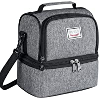 Beyle Insulated Lunch Bag for Men & Women Kid Large Refrigerated Lunch Box Cooler (Grey)