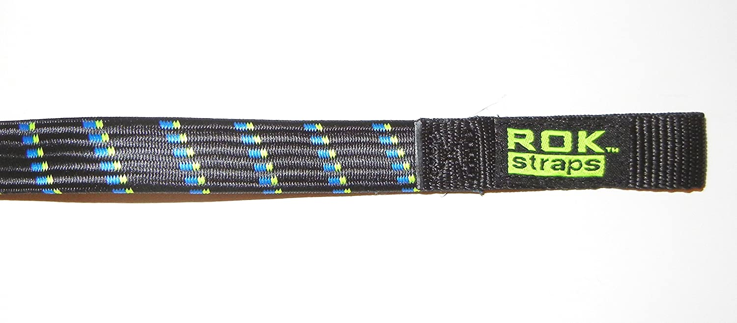 ROK Straps 24 x 3//4 Motorbike Luggage Stretch Strap 2 Pack Black//Blue
