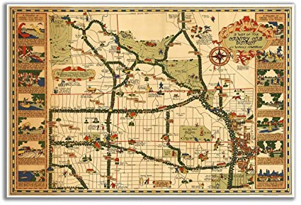 Amazon.com: Map of the Country Club District in Kansas City ...