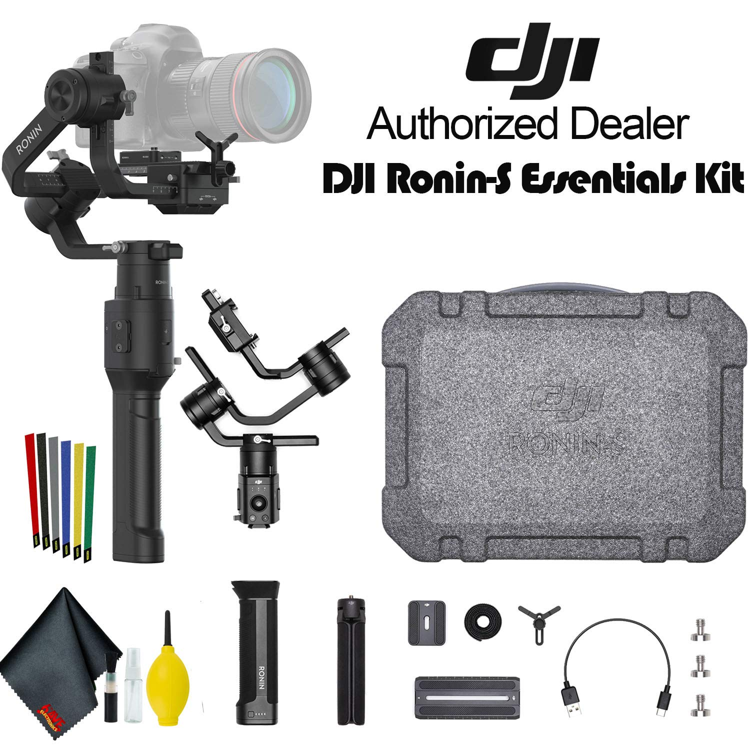 DJI Ronin-S Essentials Kit 3-Axis Gimbal Stabilizer for Mirrorless and DSLR Cameras by DJI