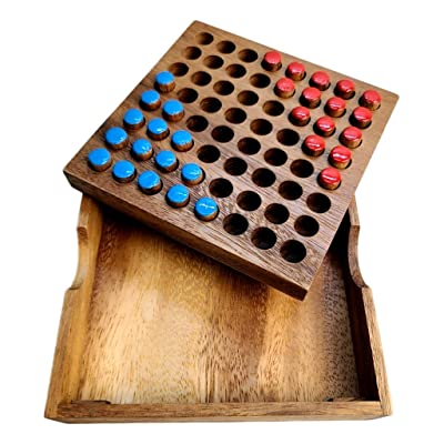 Chinese Checkers 2 Person Edition. All Wood with Cover.: Toys & Games