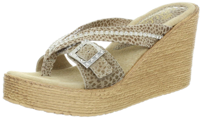Sbicca Women's Sundown Wedge Sandal B008XBA10M 9 B(M) US Taupe