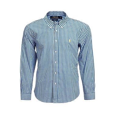 super popular 6764e 99f9e Ralph Lauren Hemd Herren Hemd Slim Fit Hemd Größe S-XXL (Blau-Weiß Kariert,  M)
