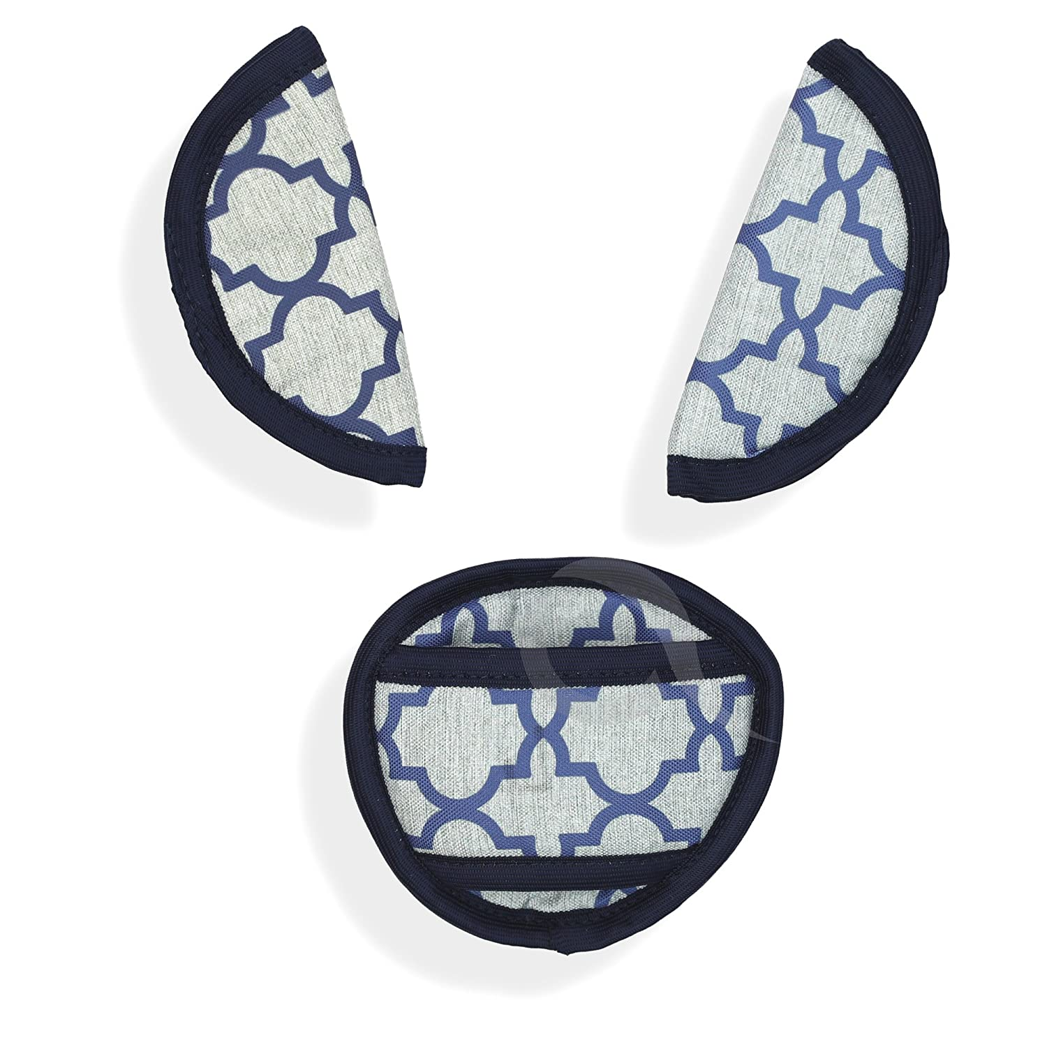 car seat straps P235-navy BELTS PADS SHOULDER STRAP /& CROTCH cover UNIVERSAL Fits most buggy stroller
