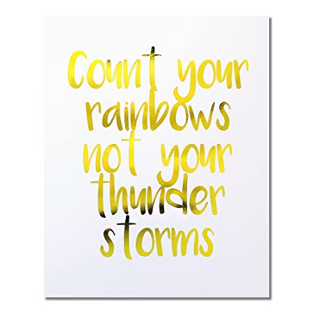 Count Your Rainbows Not Your Thunder Storms\