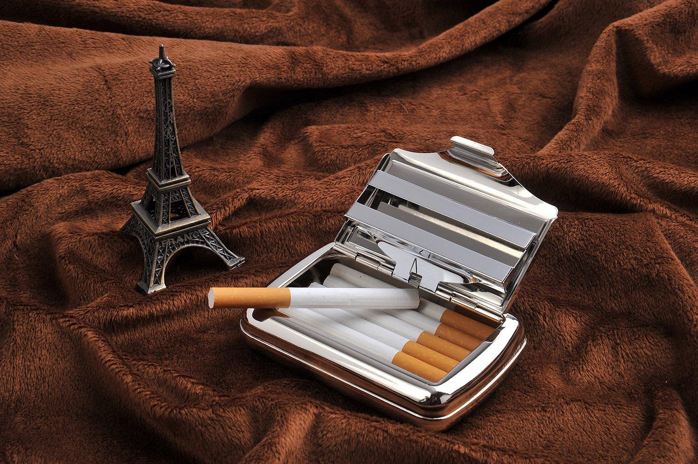 CAOQAO 9,5 x 7 x 2 cm Contenitore per Tabacco e Sigarette